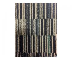 12' x 12' Commercial Carpet Black/Tan/Green Multi Color