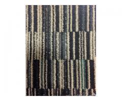 12' x 12' Commercial Carpet Black/Tan/Green Multi Color