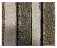 12' x 90' Commercial Carpet Black/Tan/Brown Stripe