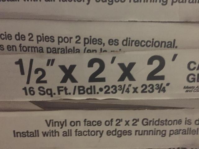 2 X 2 Gridstone Vinyl Faced Ceiling Tiles Chula Vista
