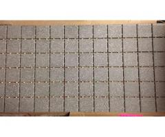 "2"" x 2"" Dal Tile Suede Grey Speckle Mosaic Tile"